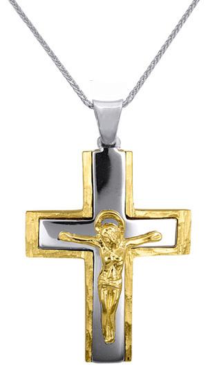 Βαπτιστικοί Σταυροί με Αλυσίδα ΒΑΠΤΙΣΤΙΚΑ ΓΙΑ ΑΓΟΡΙ C016627 016627C Ανδρικό Χρυσ σταυροί βάπτισης   γάμου βαπτιστικοί σταυροί με αλυσίδα