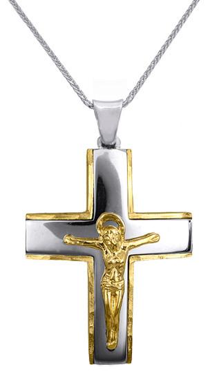 Βαπτιστικοί Σταυροί με Αλυσίδα ΒΑΠΤΙΣΤΙΚΟΣ ΣΤΑΥΡΟΣ ΓΙΑ ΑΓΟΡΙ C016632 016632C Ανδ σταυροί βάπτισης   γάμου βαπτιστικοί σταυροί με αλυσίδα