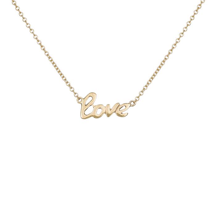 Χρυσό κολιέ Love Κ9 016652 016652 Χρυσός 9 Καράτια