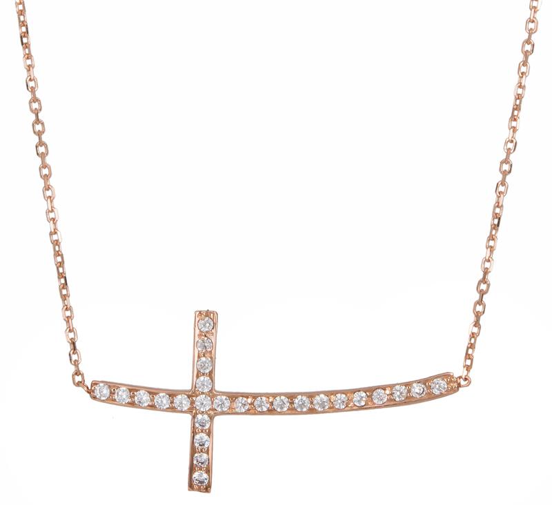Κολιέ με πετράτο σταυρό Κ14 016659 Χρυσός 14 Καράτια