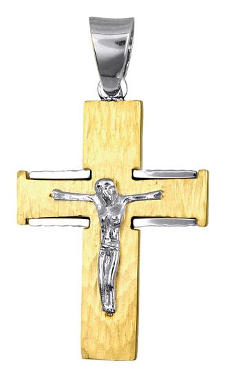 Σταυροί Βάπτισης - Αρραβώνα ΧΡΥΣΟΣ ΑΝΔΡΙΚΟΣ ΣΤΑΥΡΟΣ 016723 Ανδρικό Χρυσός 14 Καράτια