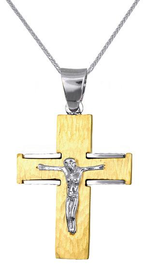 Βαπτιστικοί Σταυροί με Αλυσίδα ΚΟΣΜΗΜΑ ΣΤΑΥΡΟΙ ΑΝΔΡΙΚΟΙ 016723C Ανδρικό Χρυσός 14 Καράτια