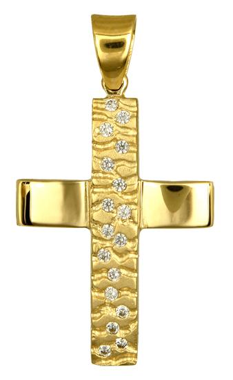 Σταυροί Βάπτισης - Αρραβώνα ΧΡΥΣΟΣ ΣΤΑΥΡΟΣ ΓΥΝΑΙΚΕΙΟΣ 016725 Γυναικείο Χρυσός 14 Καράτια
