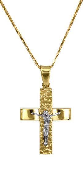Βαπτιστικοί Σταυροί με Αλυσίδα ΣΤΑΥΡΟΙ ONLINE 016726C Ανδρικό Χρυσός 14 Καράτια