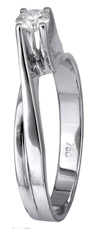 Δαχτυλίδι γάμου με διαμάντι 016476 016476 Χρυσός 18 Καράτια