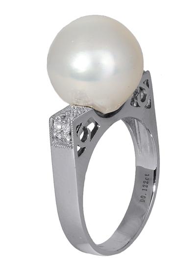 Δαχτυλίδι με μαργαριτάρι South Sea 016844 016844 Χρυσός 18 Καράτια