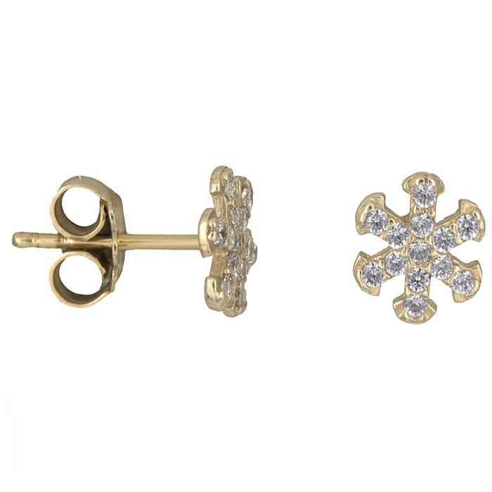 Σχέδια για χρυσά σκουλαρίκια 016853 Χρυσός 14 Καράτια