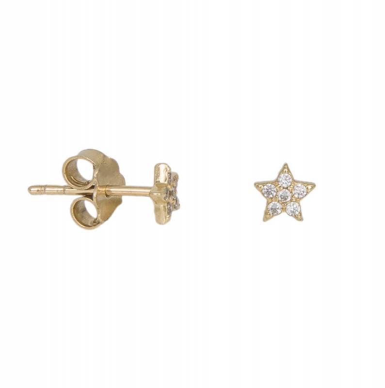 Χρυσά σκουλαρίκια αστέρι Κ14 016863 016863 Χρυσός 14 Καράτια