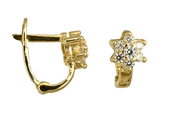 Χρυσά Κοσμήματα Online 016869 Χρυσός 14 Καράτια χρυσά κοσμήματα σκουλαρίκια καρφωτά