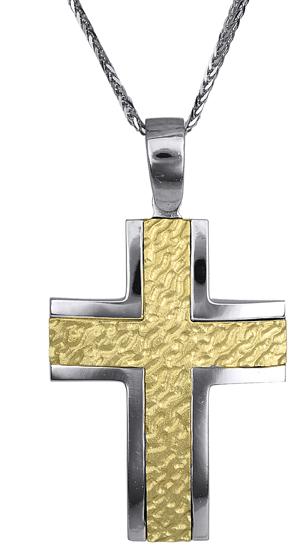 Βαπτιστικοί Σταυροί με Αλυσίδα Σταυρός Ανδρικός 016903C Ανδρικό Χρυσός 14 Καράτια