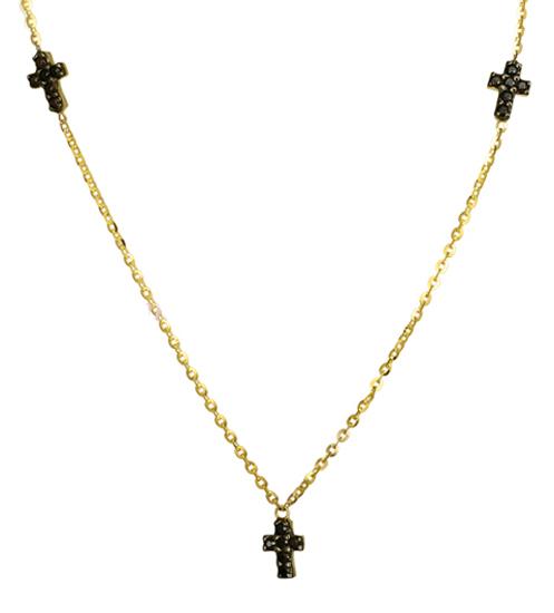 Κολιέ με σταυρό 016920 Χρυσός 14 Καράτια