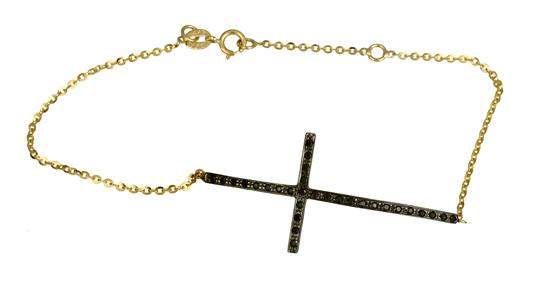Βραχιόλι με πετράτο σταυρό Κ14 012992 012992 Χρυσός 14 Καράτια