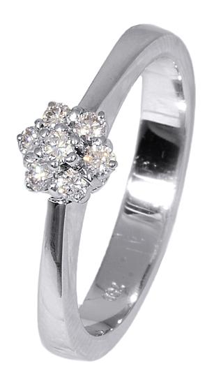 Δαχτυλίδι ροζέτα με brilliant 016936 Χρυσός 18 Καράτια