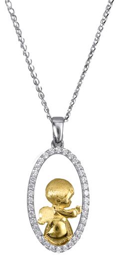 Κολιέ αγγελάκι χρυσό Κ14 016986 016986 Χρυσός 14 Καράτια
