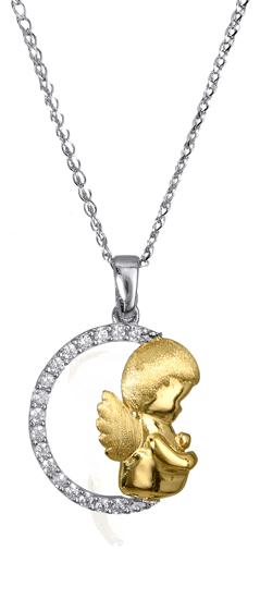 Κολιέ Δίχρωμο 016987 Χρυσός 14 Καράτια