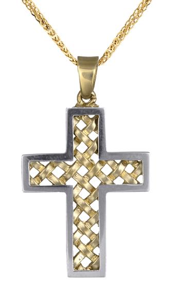 Βαπτιστικοί Σταυροί με Αλυσίδα Σταυρός βαπτιστικός για αγόρι 14Κ c017715 017715C σταυροί βάπτισης   γάμου βαπτιστικοί σταυροί με αλυσίδα
