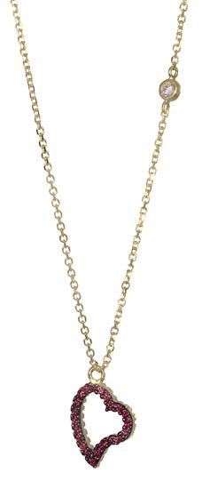 Κολιέ Καρδιά 017039 Χρυσός 14 Καράτια