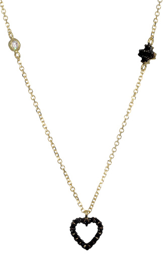Χρυσό κολιέ καρδιά 017040 Χρυσός 14 Καράτια