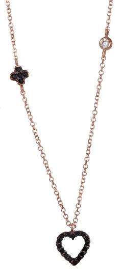 Κολιέ από ροζ χρυσό 017041 Χρυσός 14 Καράτια χρυσά κοσμήματα κολιέ