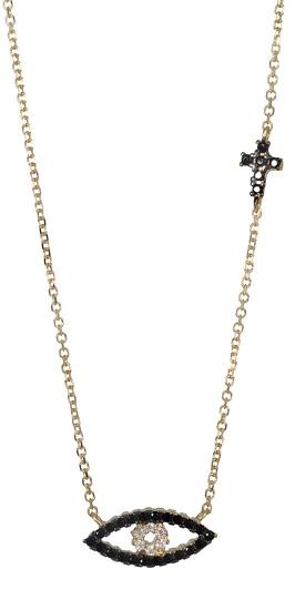 Κολιέ με ματάκι 017042 Χρυσός 14 Καράτια χρυσά κοσμήματα κολιέ