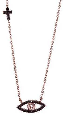Κολιέ Ροζ Χρυσό 017043 Χρυσός 14 Καράτια