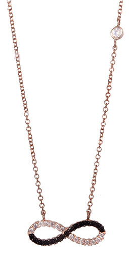 Κολιέ ροζ χρυσό 017045 Χρυσός 14 Καράτια