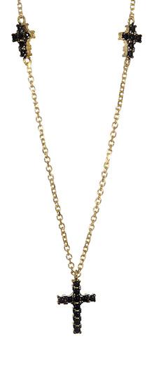 Χρυσό κολιέ με σταυρούς 017050 Χρυσός 14 Καράτια