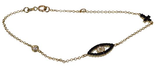 Βραχιόλι με ματάκι 017054 Χρυσός 14 Καράτια