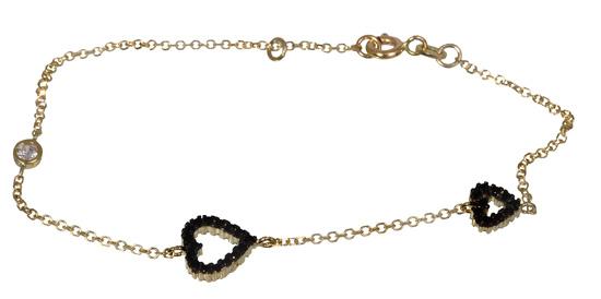 Βραχιόλι χρυσό με καρδιές 017056 Χρυσός 14 Καράτια