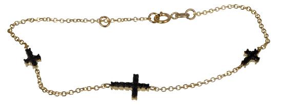 Χρυσό Βραχιόλι με σταυρούς 017058 Χρυσός 14 Καράτια