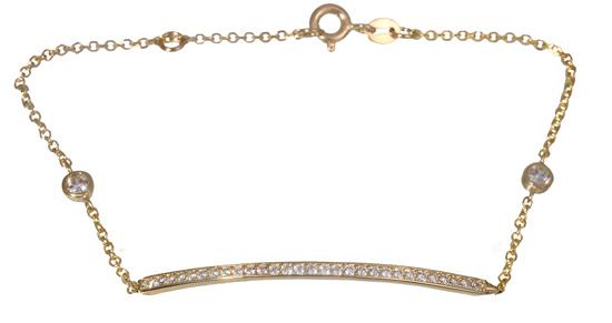 Χρυσό Βραχιόλι με πέτρες ζιργκόν 017059 Χρυσός 14 Καράτια