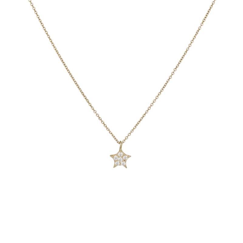 Κολιέ αστέρι Κ14 017070 017070 Χρυσός 14 Καράτια