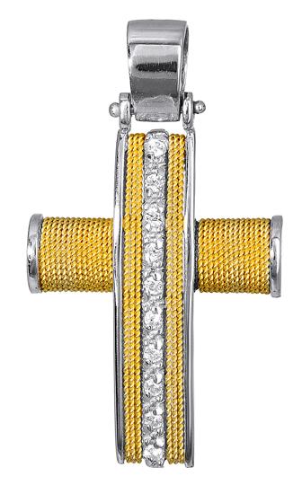 Σταυροί Βάπτισης - Αρραβώνα Σταυρός Βάφτιστικός 017091 017091 Γυναικείο Χρυσός 14 Καράτια