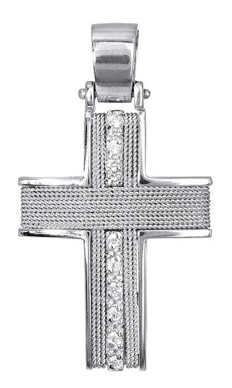 Σταυροί Βάπτισης - Αρραβώνα Σταυρός Βάπτισης 017098 Γυναικείο Χρυσός 14 Καράτια