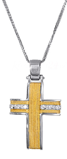 Βαπτιστικοί Σταυροί με Αλυσίδα ΣΤΑΥΡΟΣ ΓΥΝΑΙΚΕΙΟΣ ΜΕ ΑΛΥΣΙΔΑ 017100C Γυναικείο Χρυσός 14 Καράτια