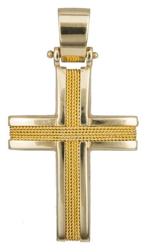 Σταυροί Βάπτισης - Αρραβώνα Χρυσός ανδρικός σταυρός Κ14 017108 Ανδρικό Χρυσός 14 Καράτια