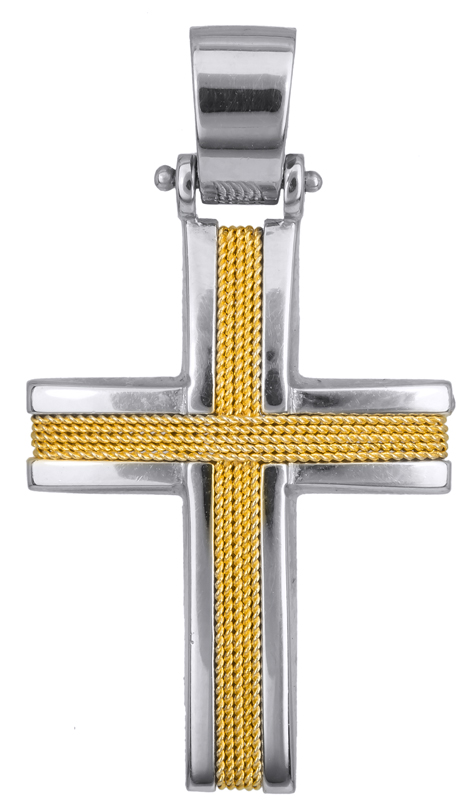 Σταυροί Βάπτισης - Αρραβώνα Ανδρικός σταυρός 017109 017109 Ανδρικό Χρυσός 14 Καράτια