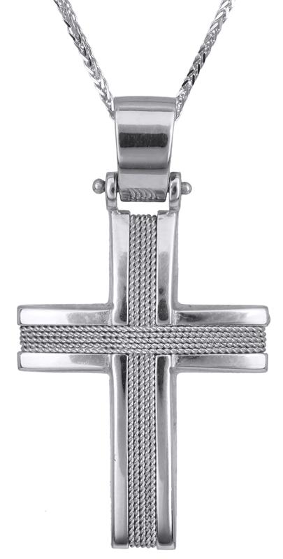 Βαπτιστικοί Σταυροί με Αλυσίδα Βαπτιστικός σταυρός για αγόρι 14Κ C017110 017110C Ανδρικό Χρυσός 14 Καράτια