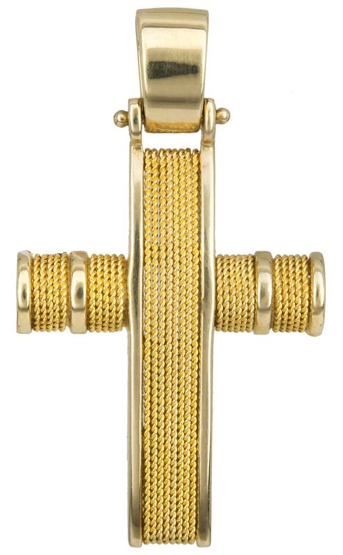 Σταυροί Βάπτισης - Αρραβώνα Χρυσός Σταυρός με Σύρμα Κ14 017111 017111 Ανδρικό Χρυσός 14 Καράτια