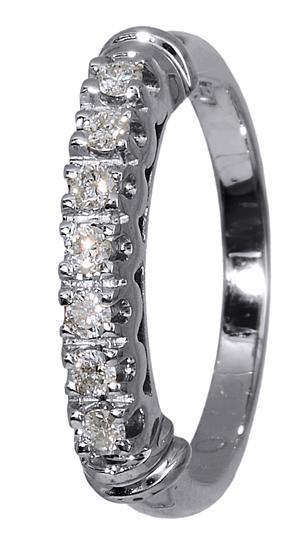 Δαχτυλίδι με Διαμάντια 017145 Χρυσός 18 Καράτια χρυσά κοσμήματα δαχτυλίδια σειρέ ολόβερα