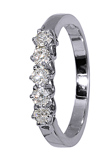 Δαχτυλίδι Με Διαμάντια Μπριγιάν 017146 Χρυσός 18 Καράτια χρυσά κοσμήματα δαχτυλίδια σειρέ ολόβερα