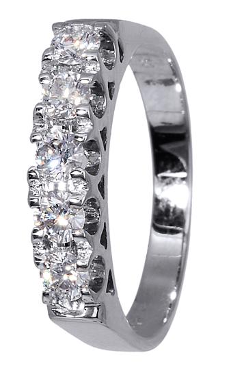 Δαχτυλίδι Λευκόχρυσο Με Διαμάντια 017147 Χρυσός 18 Καράτια χρυσά κοσμήματα δαχτυλίδια σειρέ ολόβερα