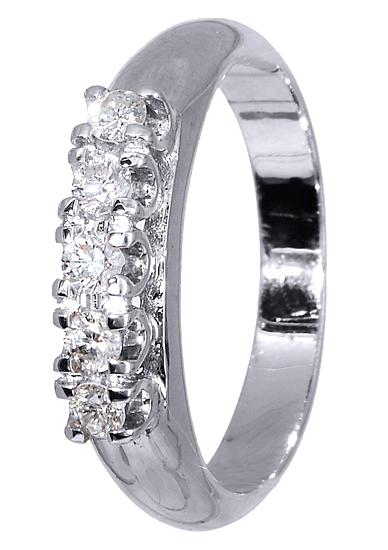 Δαχτυλίδι με Μπριγιάν 017149 Χρυσός 18 Καράτια