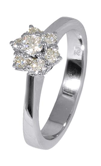 Δαχτυλίδι Λευκόχρυσο Κ18 017151 Χρυσός 18 Καράτια