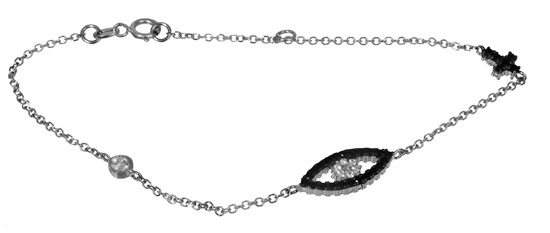 Λευκόχρυσο βραχιόλι 017176 Χρυσός 14 Καράτια