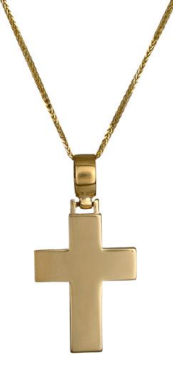 Βαπτιστικοί Σταυροί με Αλυσίδα Σταυρός βάπτισης και αρραβώνα 017218C Ανδρικό Χρυσός 14 Καράτια