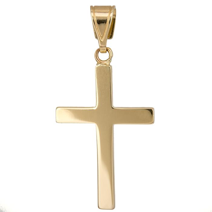 Σταυροί Βάπτισης - Αρραβώνα Χρυσός οικονομικός σταυρός Κ14 017223 Ανδρικό Χρυσός 14 Καράτια