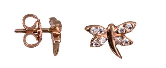 Γυναικεία σκουλαρίκια λιβελούλα 017235 Χρυσός 14 Καράτια