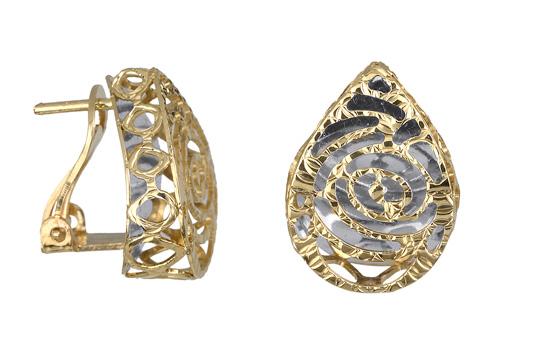 Σκουλαρίκια χρυσά καρφωτά 017251 Χρυσός 14 Καράτια