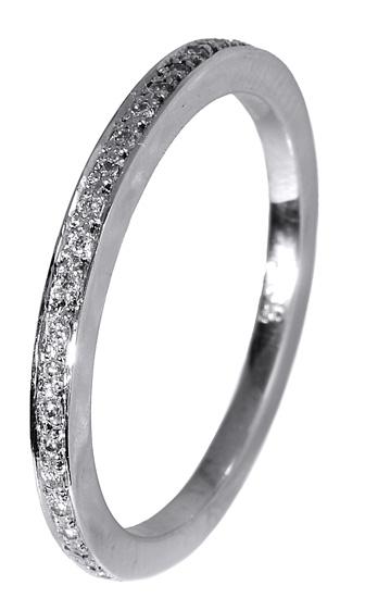 Δαχτυλίδι ολόβερο με διαμάντια μπριγιάν 017306 Χρυσός 18 Καράτια